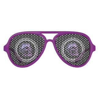 Schädel im Oval - lila Partybrille