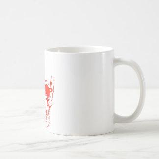 Schädel im Rot Kaffeetasse