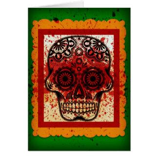 Schädel-Karte Dia De Los Muertos Sugar Karte