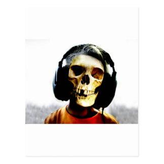 Schädel-Kinderkopfhörer-Entwurf - GeekShirts Postkarte