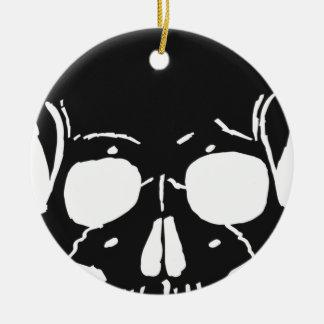 Schädel-Knochen entbeint Skeleton skelettartiges Keramik Ornament