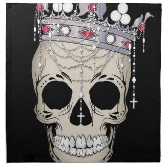Schädel-Knochen-Rahmen-Halloween-Horror-Krone Stoffserviette