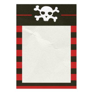 Schädel-Knochen-Streifen-Visitenkarte