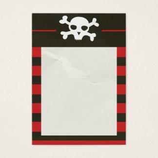 Schädel-Knochen-Streifen-Visitenkarte Jumbo-Visitenkarten