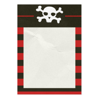 Schädel-Knochen-Streifen-Visitenkarte Mini-Visitenkarten