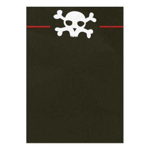 Schädel-Knochen-Titel-Visitenkarte