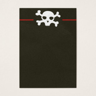 Schädel-Knochen-Titel-Visitenkarte Jumbo-Visitenkarten