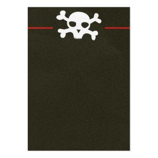 Schädel-Knochen-Titel-Visitenkarte Mini-Visitenkarten
