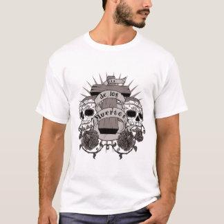 Schädel-Kreuz-Rosen Dia De Los Muertos Sugar T-Shirt