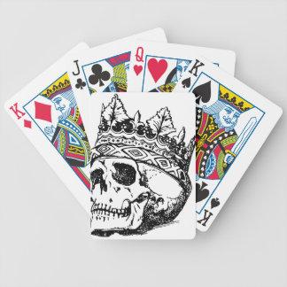 Schädel-Krone Bicycle Spielkarten