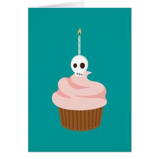 Schädel-Kuchen Grußkarte