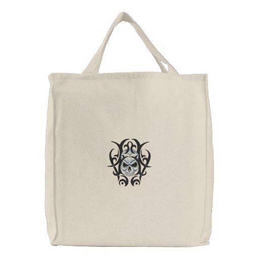 Schädel-Kunst Bestickte Tasche
