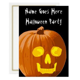 Schädel-Kürbis-Halloween-Party-Einladung Karte
