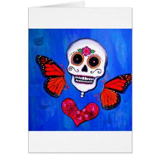 Schädel-Malerei Dia De Los Muertos Sugar Karte