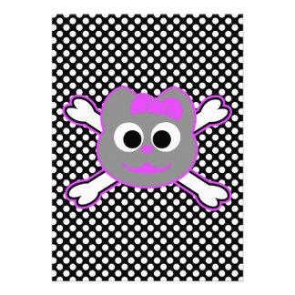 Schädel-Miezekatze-purpurrotes Grau