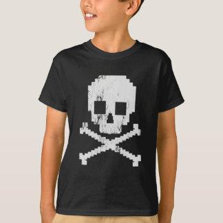 Schädel mit 8 Bits T-Shirt