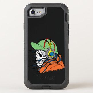 Schädel mit Ballhut und orange Jacke OtterBox Defender iPhone 8/7 Hülle