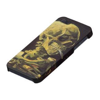 Schädel mit brennendem Zigaretten-Speck-Kasten Hülle Fürs iPhone 5