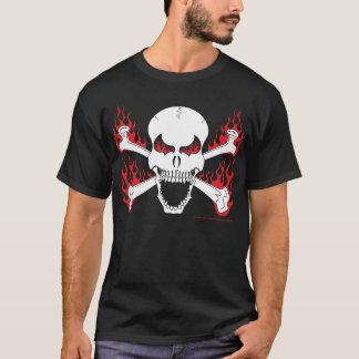 Schädel mit den gekreuzten Knochen und dem T - T-Shirt