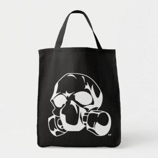 Schädel mit Gasmaske Einkaufstasche
