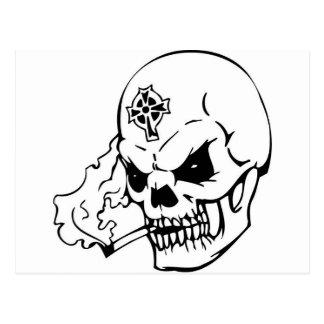 Schädel mit keltischem Kreuz Postkarte