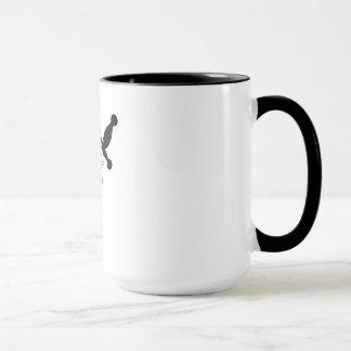 Schädel mit Klinge Tasse