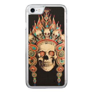 Schädel mit tibetanischem Kopfschmuck Carved iPhone 8/7 Hülle