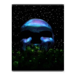 Schädel-Mond Postkarte