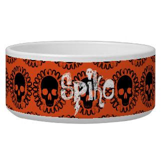 Schädel-Muster-eleganter Spaß Halloween Goth Napf