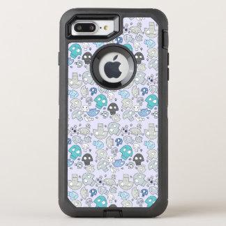 Schädel-Muster OtterBox Defender iPhone 8 Plus/7 Plus Hülle