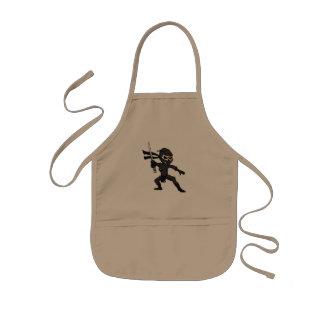 Schädel ninja Karikatur Kinderschürze