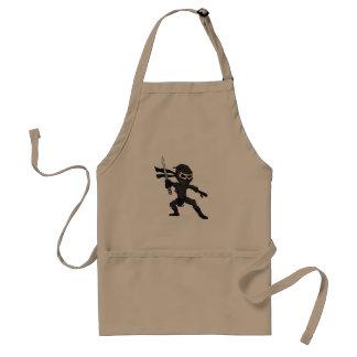 Schädel ninja Karikatur Schürze
