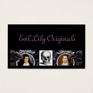 Schädel-Nonnen und Lilien Visitenkarte