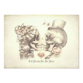 Schädel-Paar-Tag des toten Proben-Abendessens 12,7 X 17,8 Cm Einladungskarte