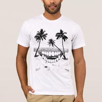 Schädel-Palme-T - Shirt