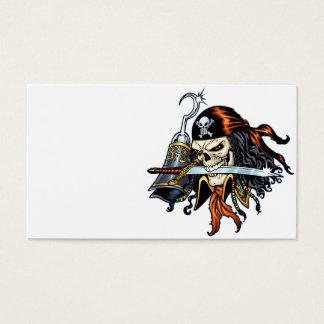 Schädel-Pirat mit Klinge und Haken durch Al Rio Visitenkarte