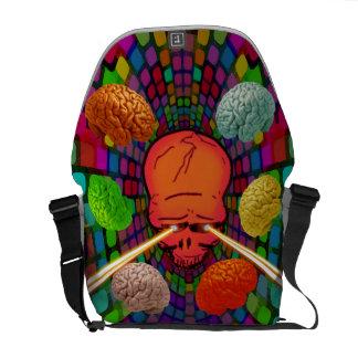 Schädel psychedelisch kurier tasche