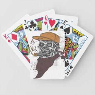 Schädel-Rauchen Bicycle Spielkarten