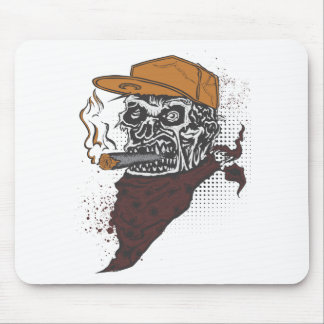 Schädel-Rauchen Mousepad