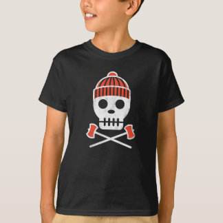 Schädel-Reihe LUMBERSKULL auf Schwarzem T-Shirt