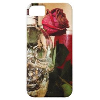 Schädel-Rosen und -getränk Barely There iPhone 5 Hülle