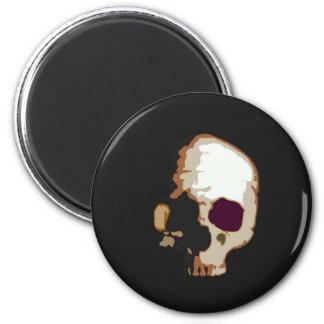 Schädel Runder Magnet 5,7 Cm