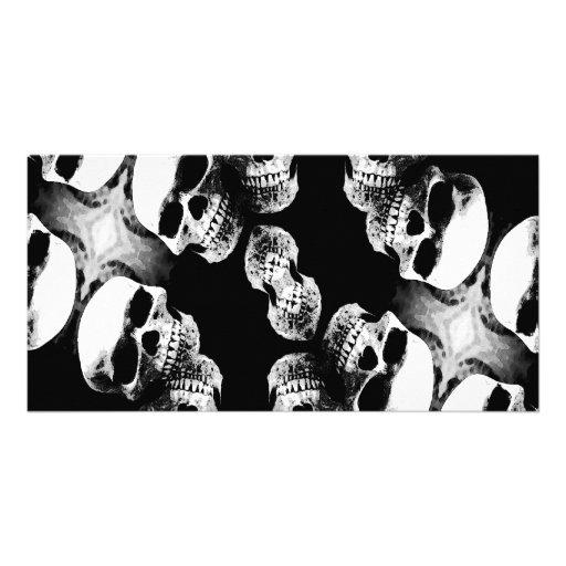 Schädel Schwarzes u. Weiß Foto Grußkarte