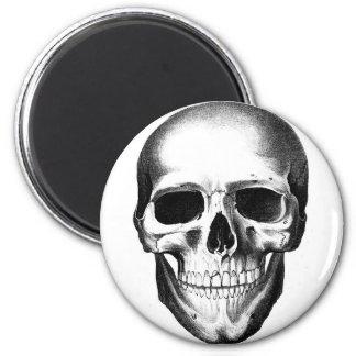 Schädel Skeleton beängstigendes Creepy Haupthallow Runder Magnet 5,7 Cm