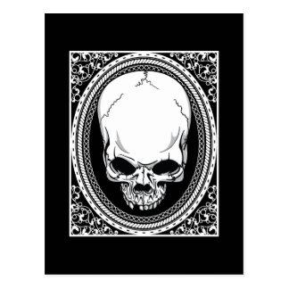 Schädel ~ Skeleton Schädel-gotisches Schwarzes Postkarte