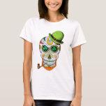 Schädel St.-Paddys Tageszucker T-Shirt