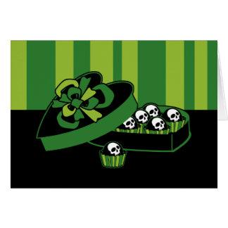 Schädel-Süßigkeits-Kasten Grußkarte