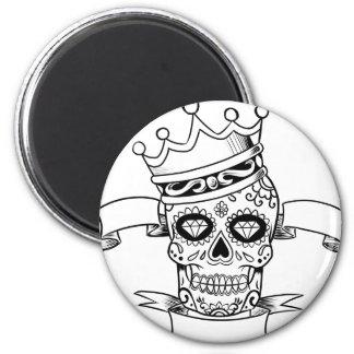 Schädel-Tag des toten Runder Magnet 5,7 Cm
