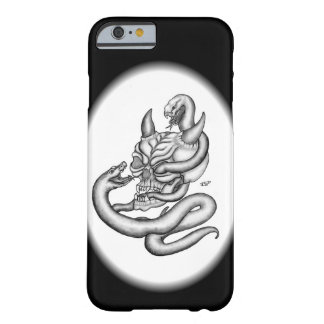Schädel - Teufel-Kopf mit Schlange Barely There iPhone 6 Hülle