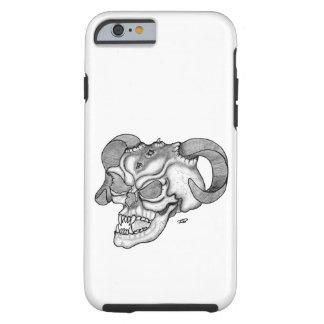 Schädel-Teufel-Kopf-Schwarzweiss-Entwurf Tough iPhone 6 Hülle